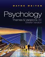 Psychology: Themes a…,9780495811336