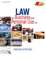 Law for Business and…,9780538496902
