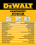 DEWALT® Carpentry Qu…, 9781111135874