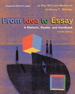 From Idea to Essay: …, 9780495802112