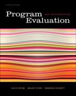 Program Evaluation: …, 9780495601661