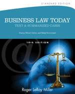 Business Law Today, …, 9781133273561